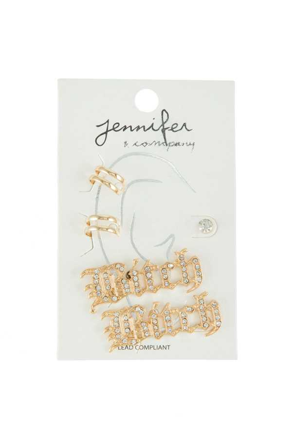 BITCH Earring and Ear Cuff Set