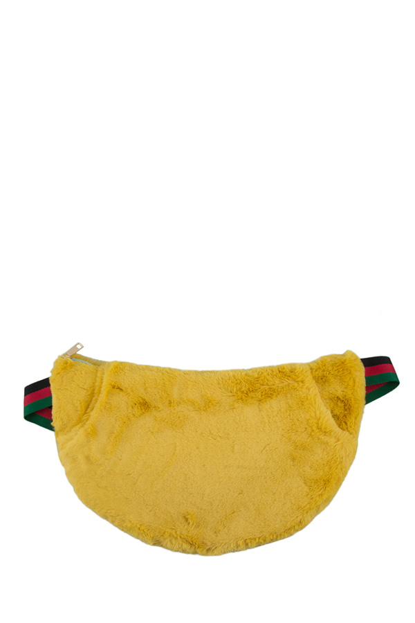 Large Furry Fanny Pack with Pockets