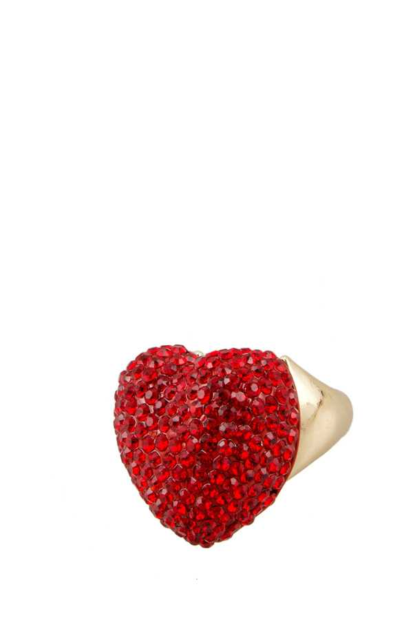 Heart Stone Free Size Ring