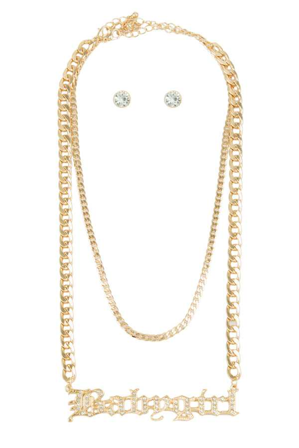 BABYGIRL Chain Layered Necklace