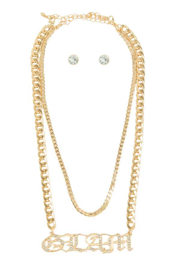 GLAM Chain Layered Necklace