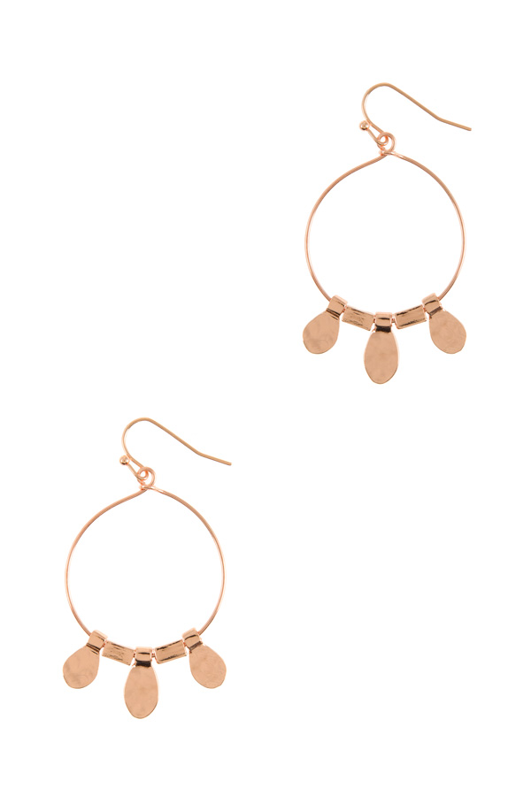 Metal charm tribal earrings