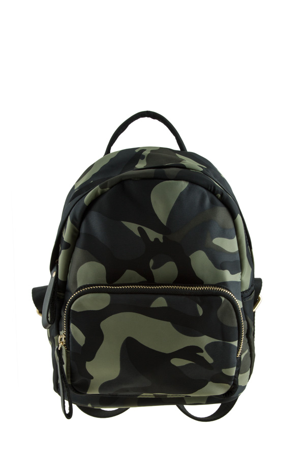 Small Camouflage Front Pocket Backpack