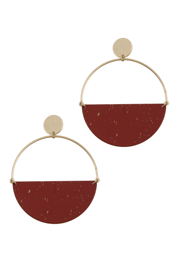 Half Circle Fill Earring