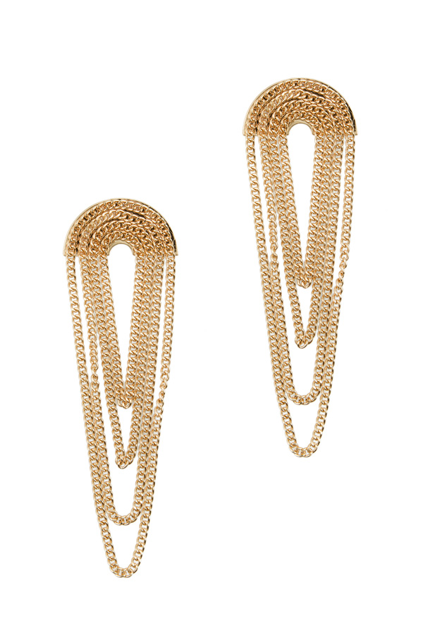 Metal Chain Layered Stud Earring