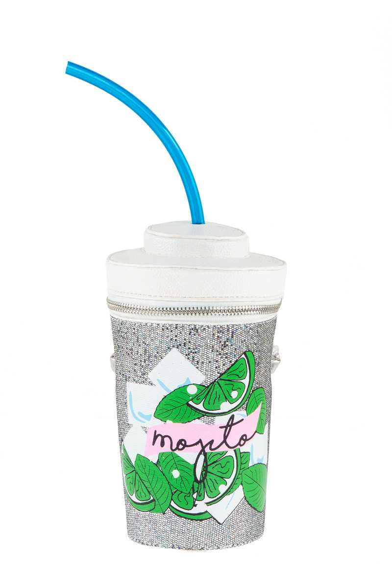 Mojito Cup Novelty Bag with Straw