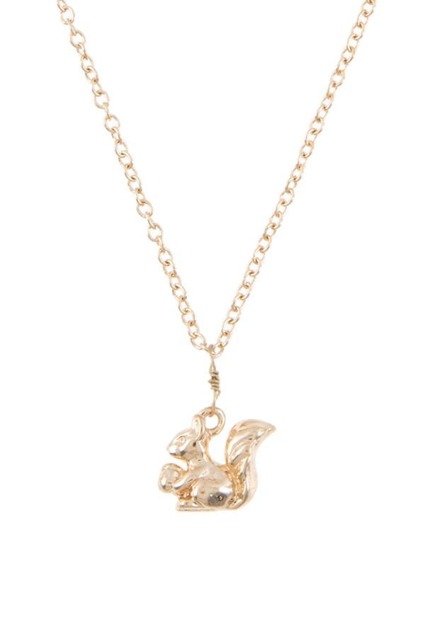 Squirrel pendant necklace aloadofball Gallery