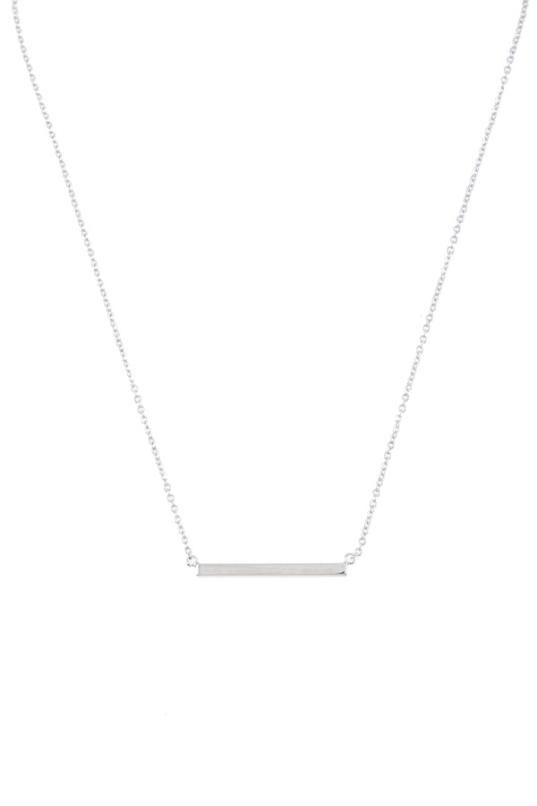 Metal bar charm necklace