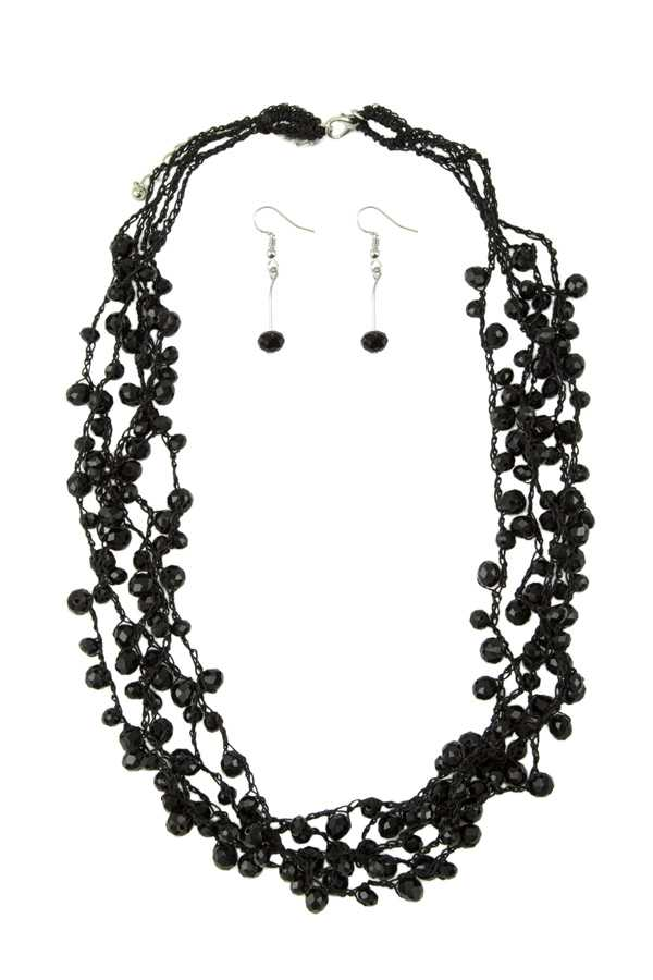 Beads Charm Multi Strand Necklace