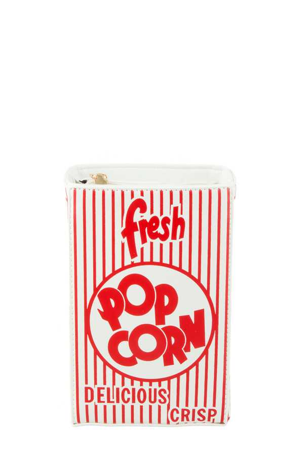 FRESH POPCORN Print Rectangular Crossbody Bag