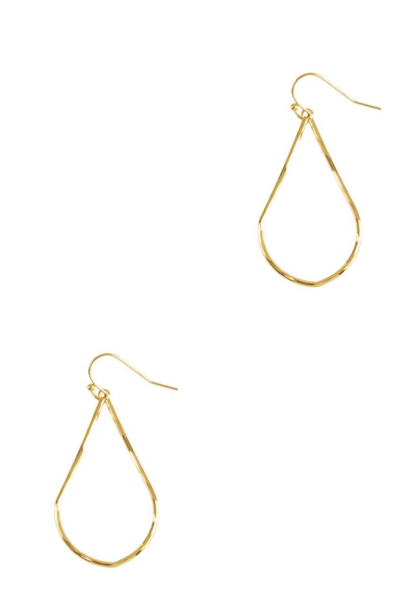 Textured Metal Organic Teardrop Earring