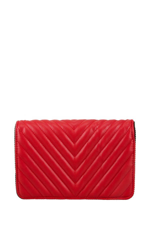 Stud accent Quilted Cross Body Bag