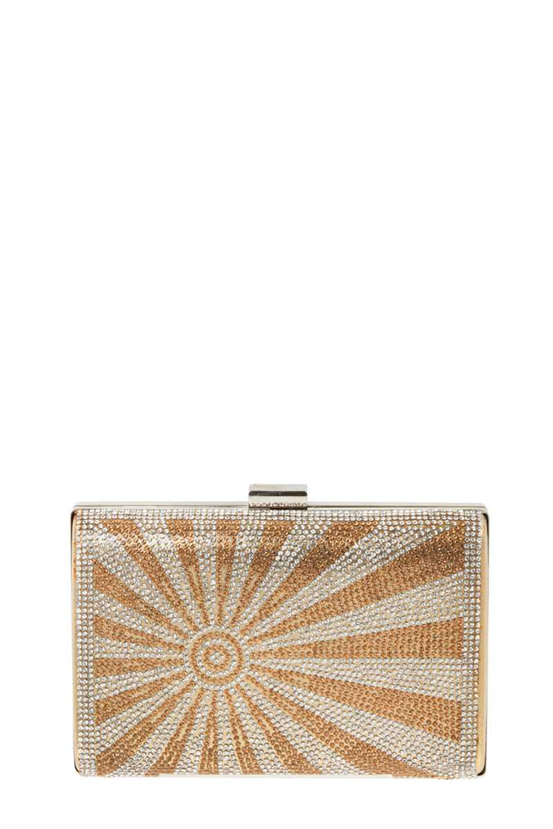 Sun Ray Stone Evening Clutch