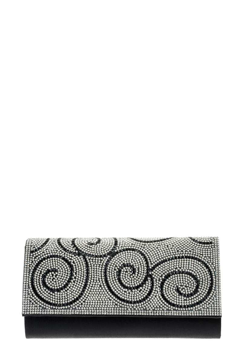 Windy Shape Stone Pave Evening Clutch