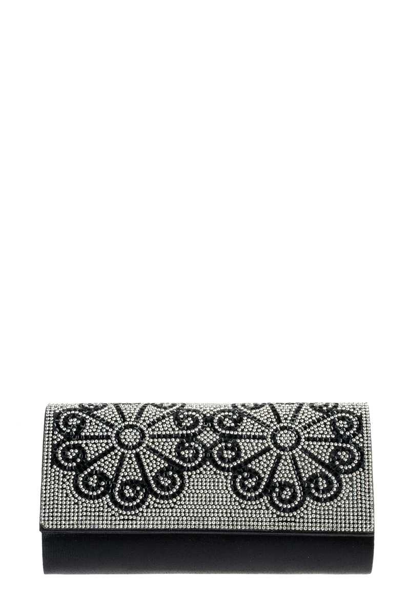 Floral Stone Pave Evening Clutch