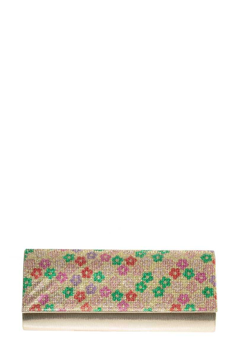 Flower Stone Pave Evening Clutch