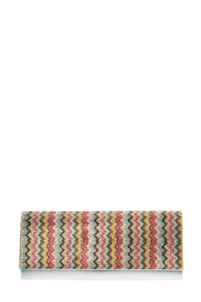 Wavy Stone Pave Evening Clutch
