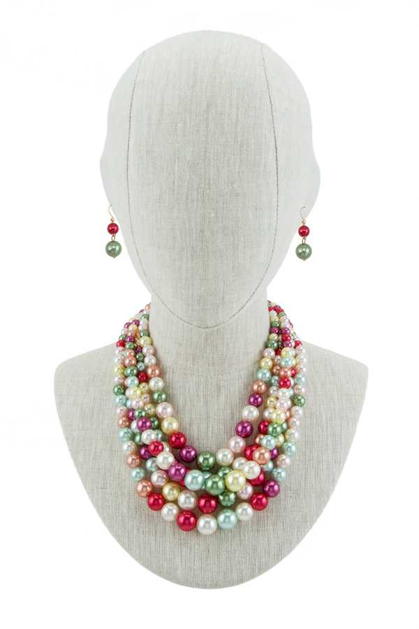 Ball Beads Multi Layered Necklace