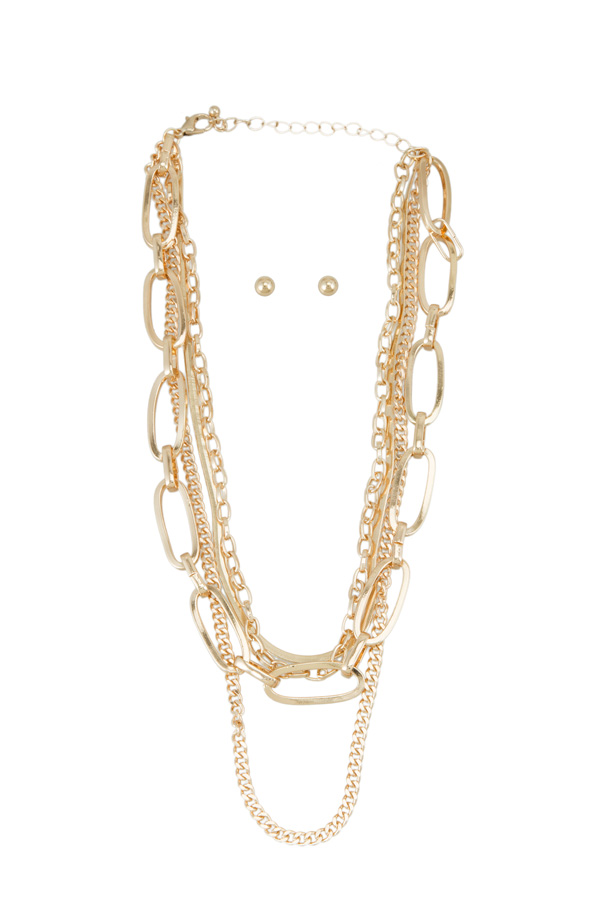 Multiple Chain Layered Necklace