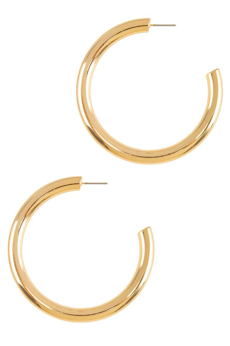 60mm Thick Open Hoop Earring