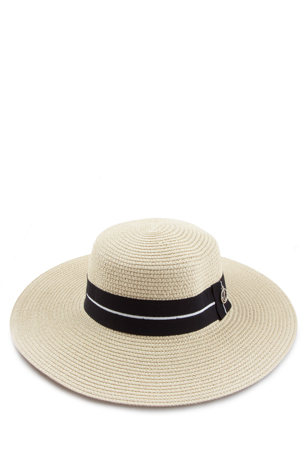 Anchor Decorated Band Straw Hat