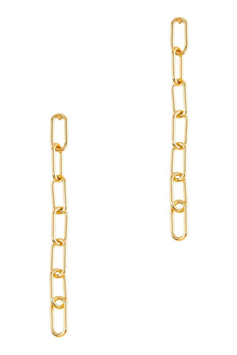 Linked Chain Drop Stud Earring
