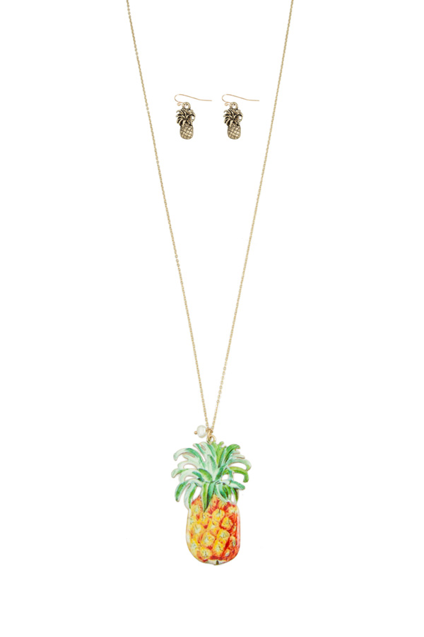 Pineapple Print Necklace