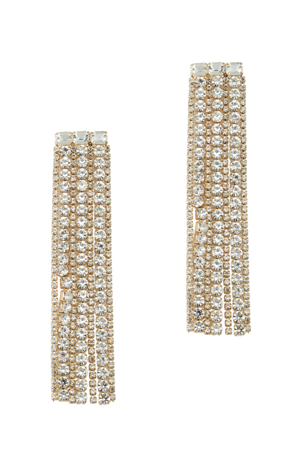 Crystal Cup Chain Statement Earring