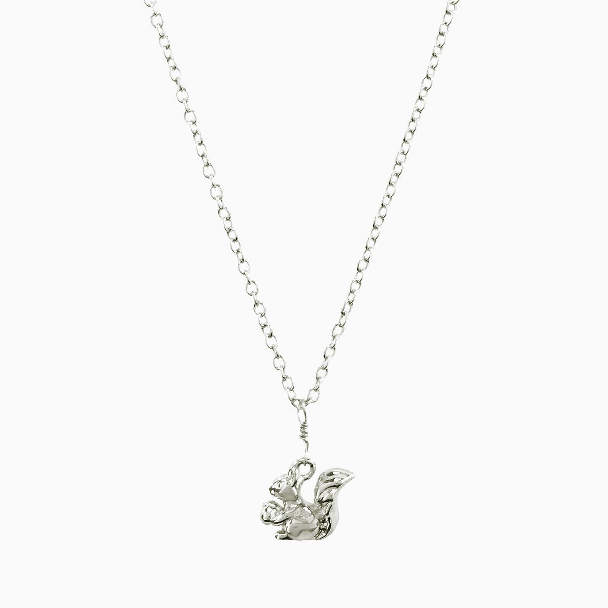 Squirrel pendant necklace silver aloadofball Gallery